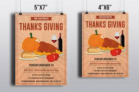 thanksgiving invitation flyer templates on behance