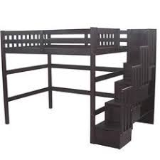 loft bed with couch underneath with steps for adults google