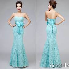 teal bridesmaid dresses cheap beautiful sweetheart strapless mermaid lace teal blue