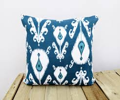 Indigo Home Decor Ikat Print Indigo Pillow Cover Cotton Cushion Cover Vl268 From