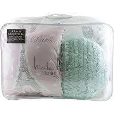 nicole miller paris eiffel tower twin single comforter pillows