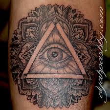 collection of 25 mandala eye triangle