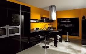 cuisine noir et jaune quelle couleur de mur pour une cuisine avec des meubles jaunes