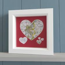 personalised map heart gift unusual romantic present butler