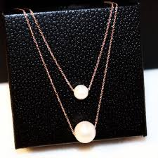 double gold pendant necklace images Double layers simulated pearl necklace women bijoux simple short jpg