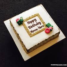 fondant happy birthday cakes with name