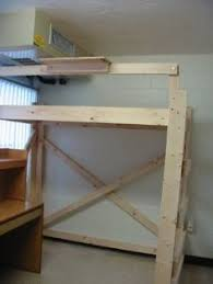 Dorm Room Loft Bed Plans Free by Diy Project How To Make A Loft Bed For Your Dorm Room Diy