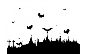 halloween horizontal background halloween graveyard borders u2013 fun for halloween