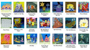 studio ghibli movies spongebob comparison charts know your meme