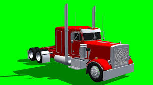 peterbilt truck in drive free green screen youtube