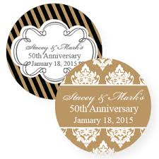 50th anniversary favors golden wedding anniversary personalized labels 20 pcs