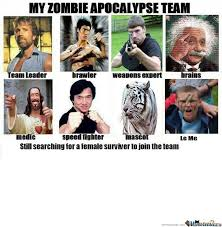 Zombie Team Meme - my zombie apocalypse team by 13alex meme center