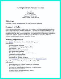 Resume Examples For Nursing Assistant by Professional Resume Objective Samplesprofessional Resume Objective