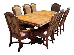 stanley grande balustrade pedestal dining room chairs set of 8