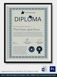 Word 2013 Resume Templates Sample Graduation Certificate Word Certificate Template 31