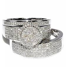 gold wedding set rings midwestjewellery his 10k white gold halo