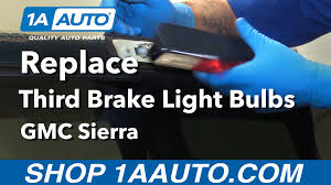 how to replace install third brake light and cargo bulbs 1996 gmc