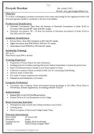Achievements In Resume Examples For Freshers by Over 10000 Cv And Resume Samples With Free Download One Page