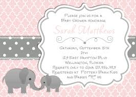 pink and grey elephant baby shower elephant baby shower invitation baptism or christening pink