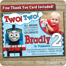 Customized Birthday Invitation Cards Birthday Invites Interesting Thomas The Train Birthday