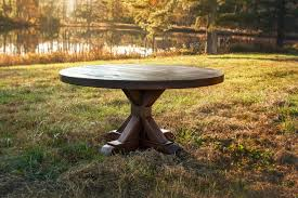 rustic round dining table dining room rustic with dining room