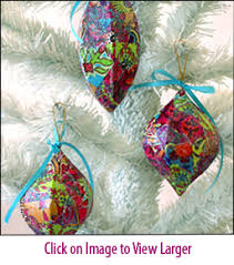 glitter decoupage ornament kits make great stuff