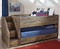 Bunk Bed With Storage Stairs Signature Design By Trinell Loft Bed With Storage Stairs