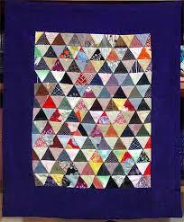 la chambre des couleurs mini quilt de triangles recyclage de soies de kimonos japonais
