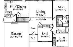 small one story house plans with porches one story house plans open with concept modern western ranch style