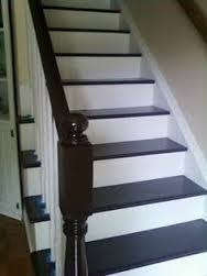 under 100 carpeted stair to wooden tread makeover diy painting