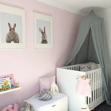 baby nursery grey pink white gold nursery with bunny theme