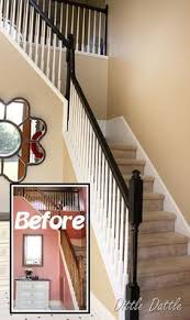 Painting A Banister White Painted Stair Rails Paint Stairs Stair Railing And Creamy Mushrooms