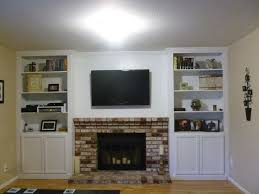 Built In Bookcase Designs White Built In Bookcases Around Fireplace Picture Yvotube Com