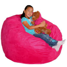 amazon com cozy sack 3 feet bean bag chair medium pink