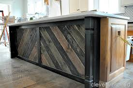 barnwood kitchen island diy reclaimed wood on kitchen island cleverly inspired