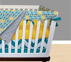 fox bumperless crib bedding yellow nursery bedding rail