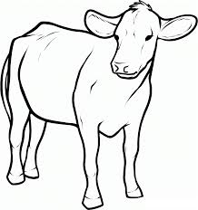 printable cow coloring pages for kids animal place picture of a