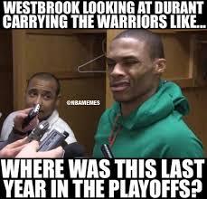nba memes on twitter kd got westbrook thinking sfwarriornation
