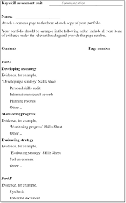Sample Key Skills For Resume by Key Skill Assessment Improving Your Own Learning And Performance