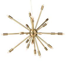 Sputnik Ceiling Light Nuevo Living Sergei Sputnik Pendant L In Antique Brass Large