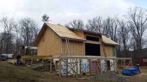 structural insulated panel installation in southern vermont