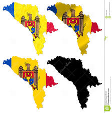 Moldova Map Republic Of Moldova Flag Over Map Stock Image Image 30274031