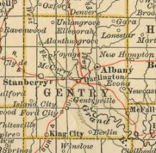 california map king city gentry county missouri genealogy history maps with albany