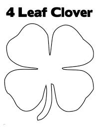 leaf clover good luck coloring netart