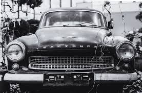 old cars black and white grayscale photography wartburg car free stock photo