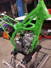 kawasaki green frame paint old moto motocross forums