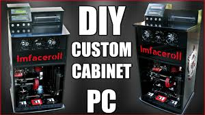 cabinet for pc ultimate custom diy cabinet desk pc build a step back into the