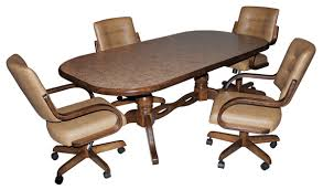 kitchen table and chairs with casters swivel dining chairs with casters mesmerizing room 27 for used 8