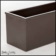 Metal Window Boxes For Plants - 36in metal window box liner bronze tone finish