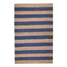 7 jute rug jani mona blue striped jute rug 5 x 7 free shipping today